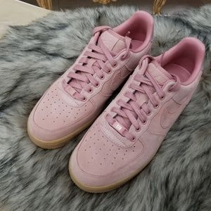 469be9463 Nike Shoes - Nike iD Women's Air Force 1 Pink Suede Shoes